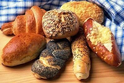 Grãos, cereais e pães