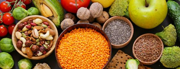 Diferentes tipos de grãos.